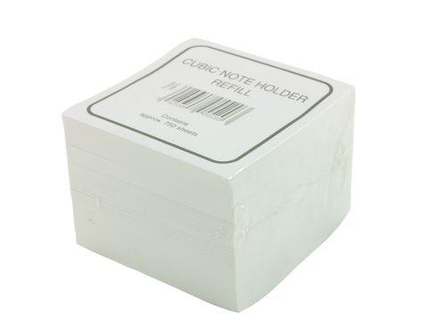 Value Deflecto Cubic Note Block Refill White