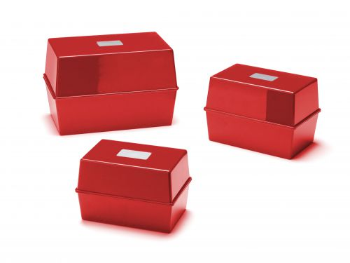 Deflecto Value Size 6 x 4 Index Card Box Red