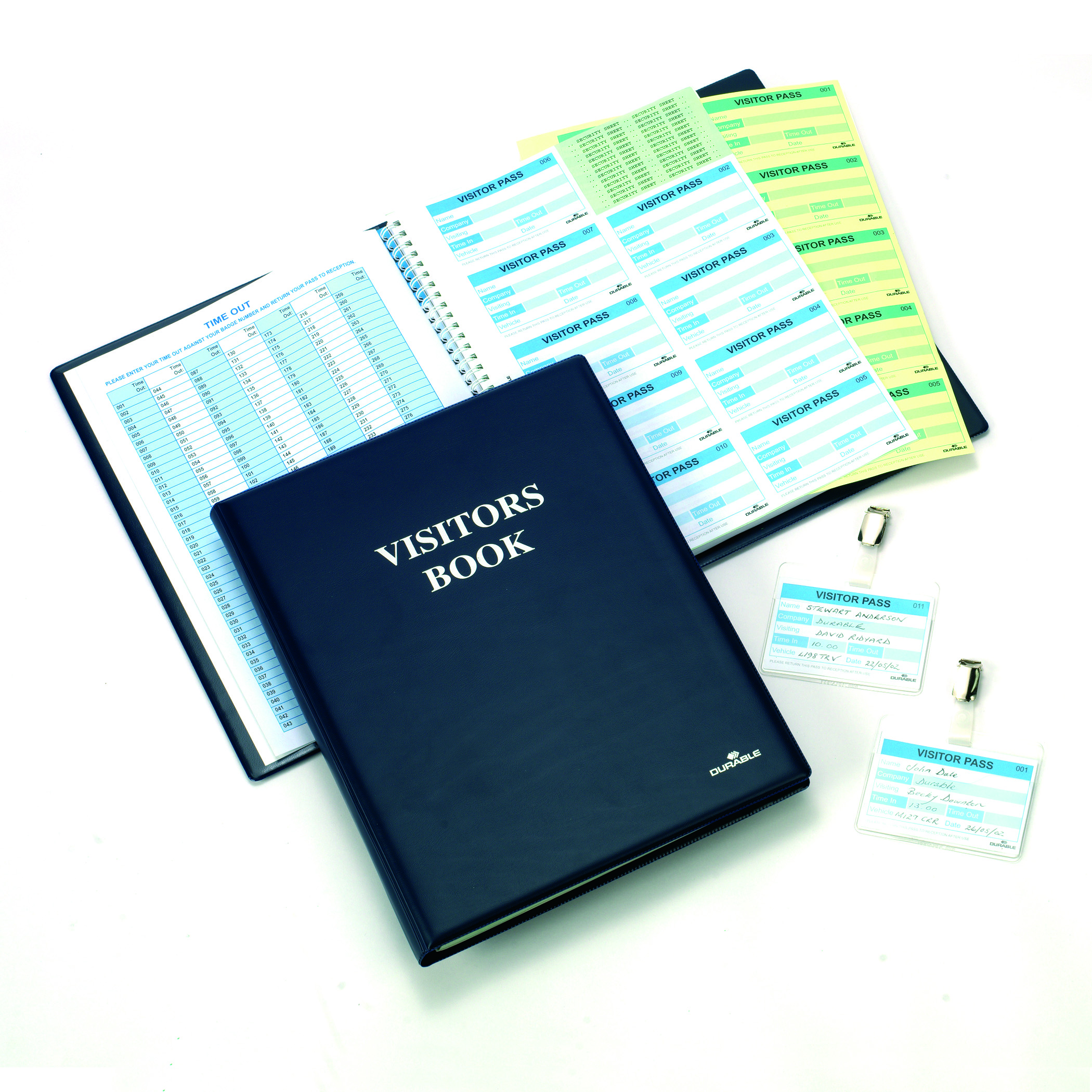 Visitors Books Durable Visitor Book 300 with 100 Badge Refill 60x90 146500