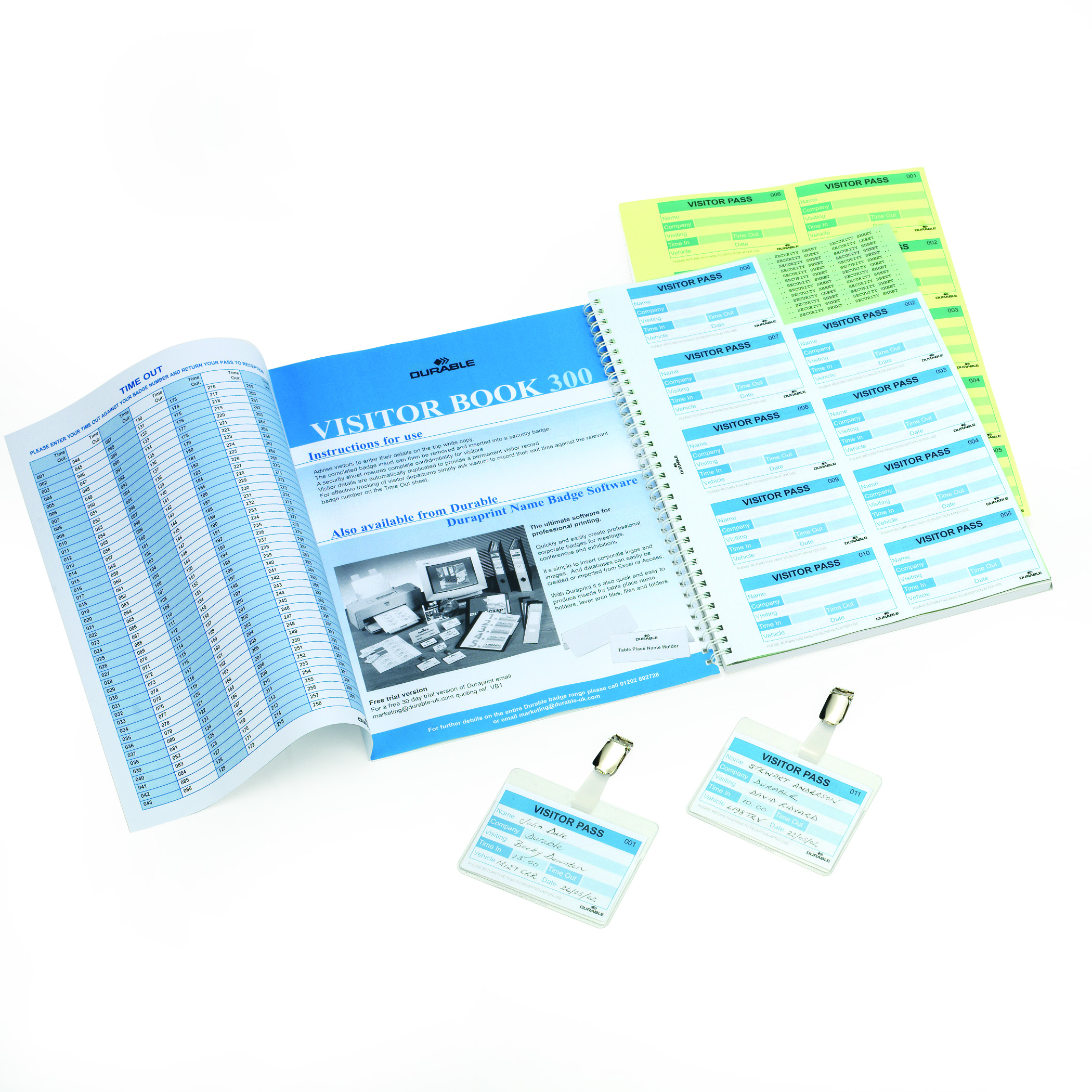 Durable Visitor Book 300 Refills