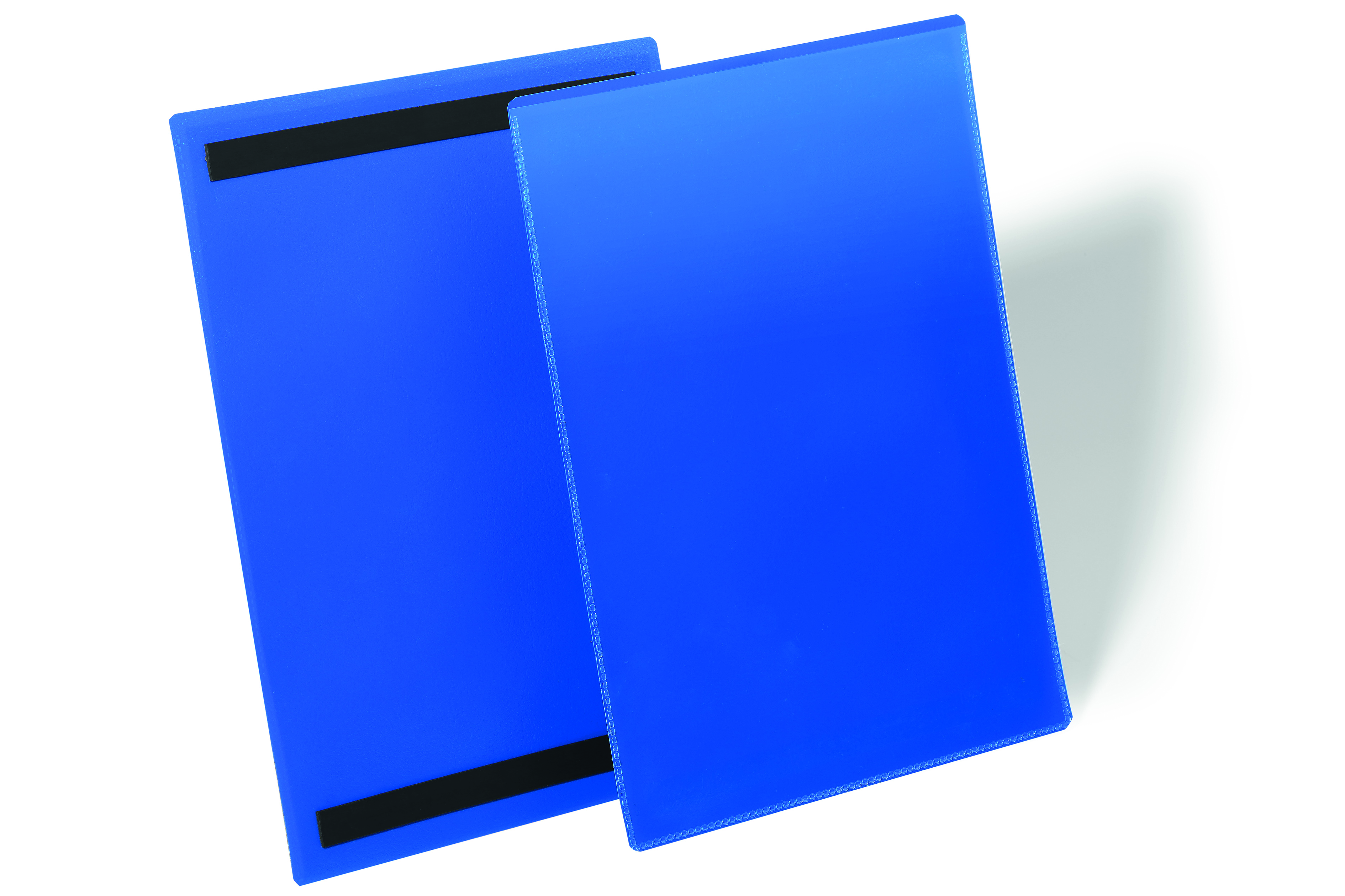 Durable Logistic Pocket Polypropylene with 2 Magnetic Strips A4 Portrait Blue Ref 174407 [Pack 50]