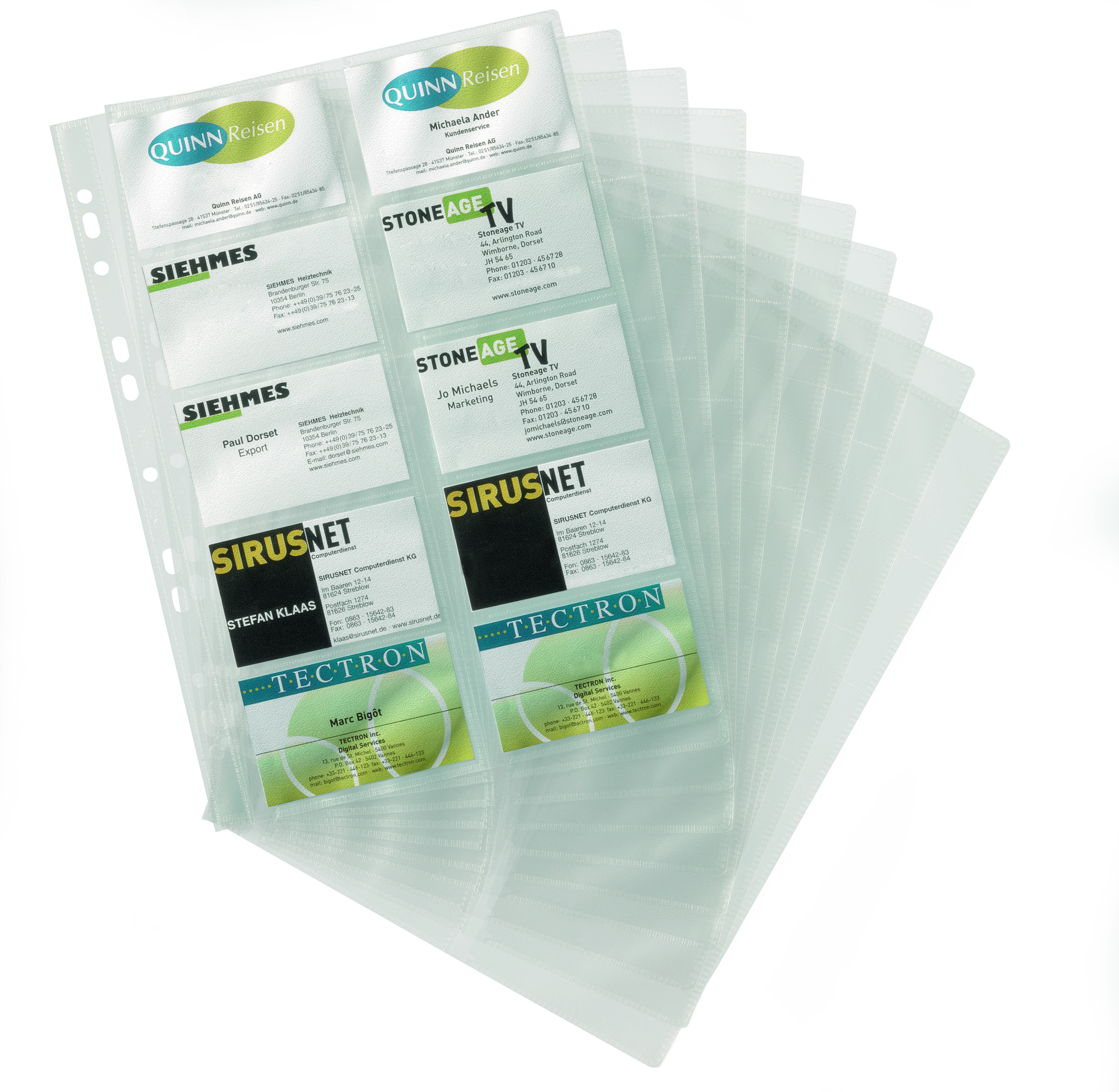 Refills Durable Visifix Refill for A4 Bus Card Album (2388) PK10