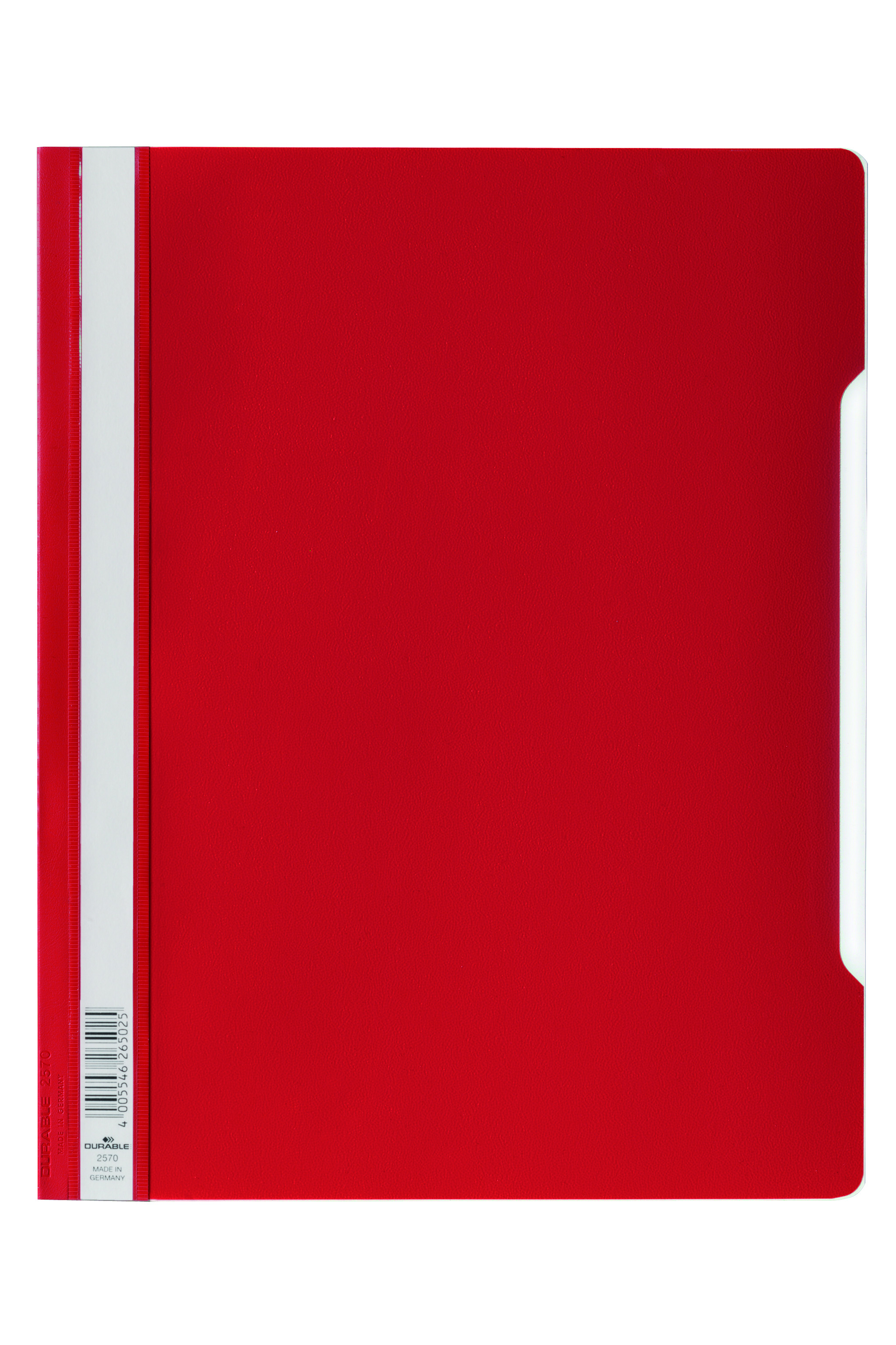 Durable Clear View Report Folder ExWide A4 Red 257003 (PK50)