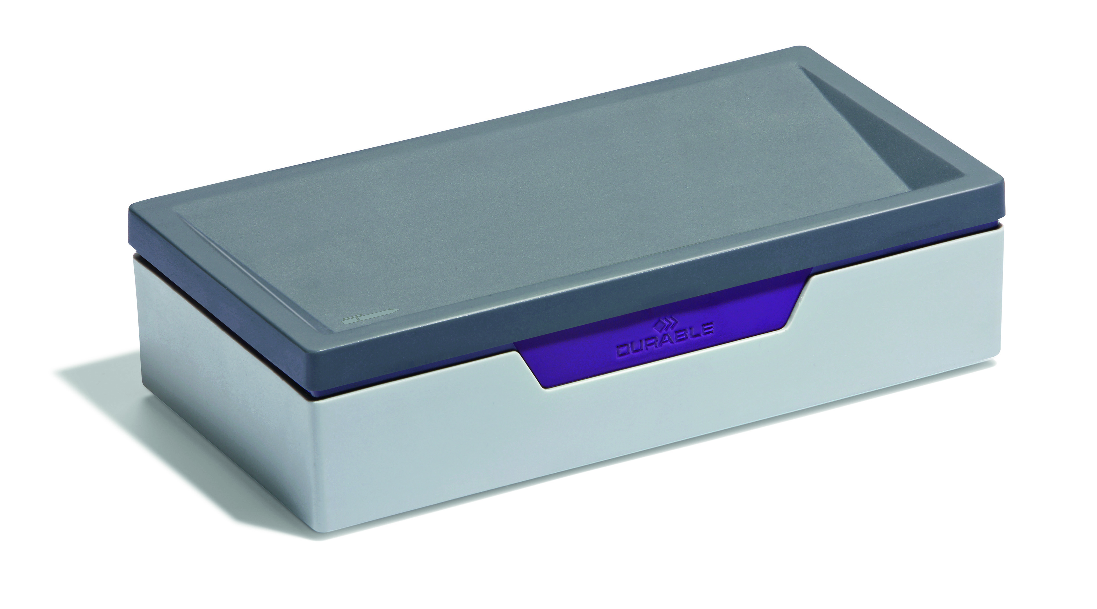 Durable Varicolor Desktop Storage Box for Small Items Grey/Lilac Ref 761212