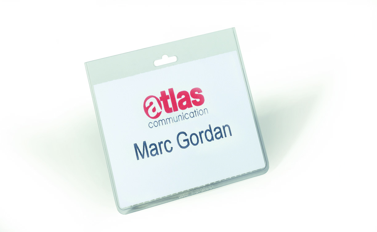Durable Security Name Badge Without Strap 60x90mm Transparent Pack 20