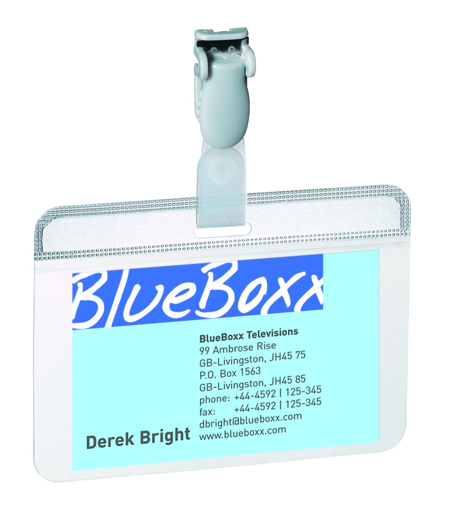 Holders Durable Self Laminating Name Badge 54x90mm 8149 (PK25)