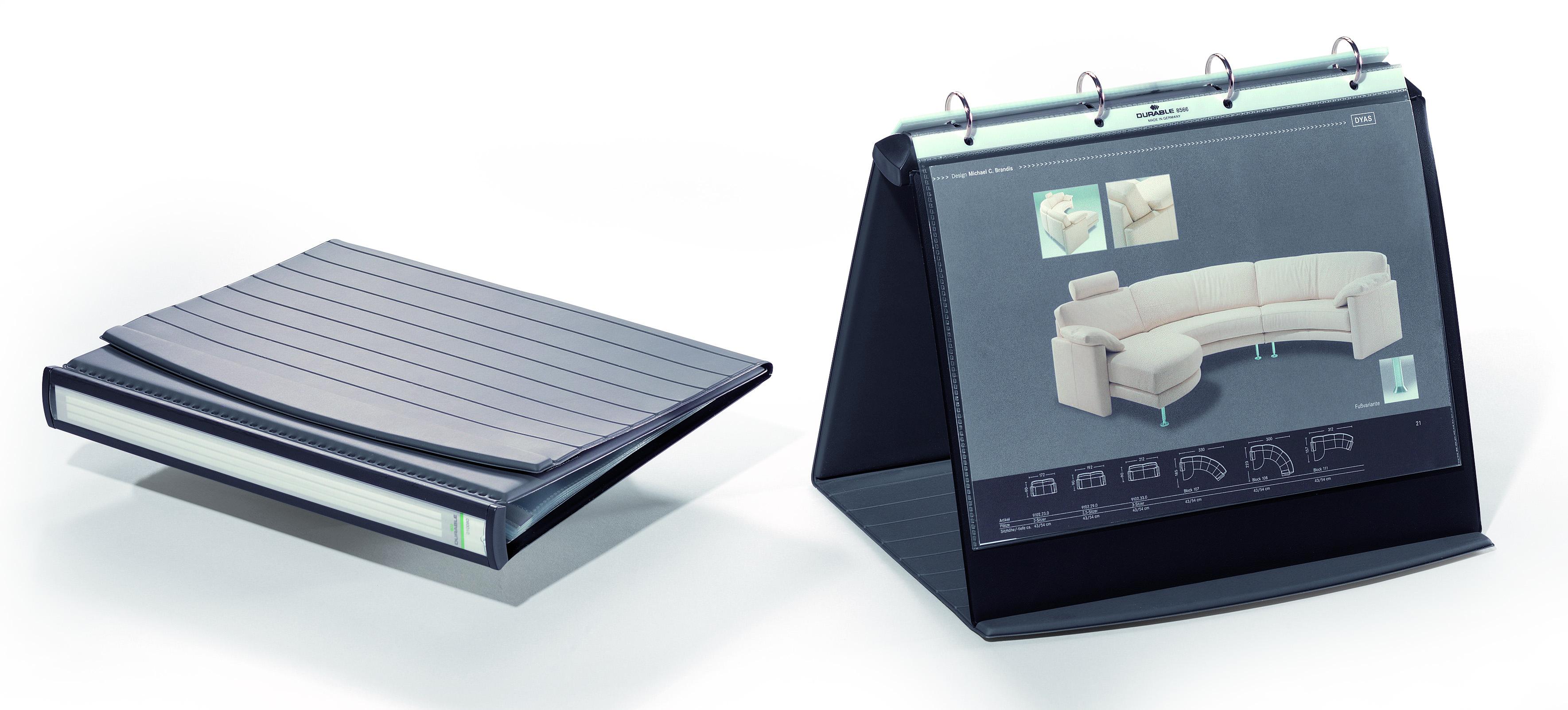 durable durastar table top presenter a4 landscape 8567 39. Black Bedroom Furniture Sets. Home Design Ideas