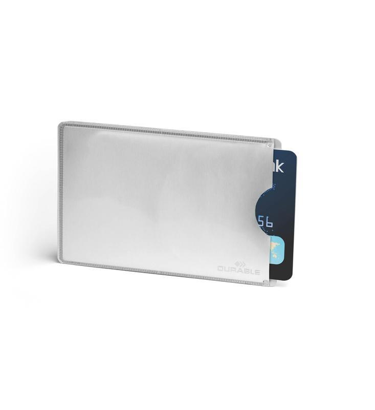 Holders Durable Credit Card Sleeve RFID Secure Silver (Pack 10)