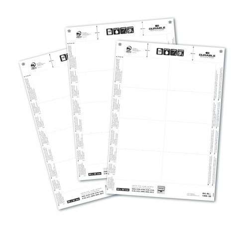 Durable Badge Inserts 150gsm 60x90mm 1456 (160 Inserts)