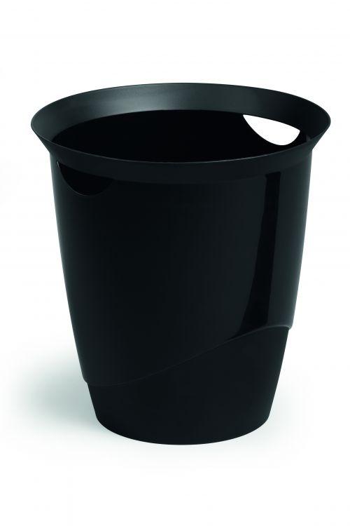 Durable Waste Bin Trend 16 Litres Black