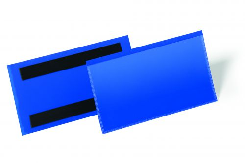 Durable Logistic Pocket Polypropylene with 2 Magnetic Strips 150x67mm Blue Ref 174207 [Pack 50]