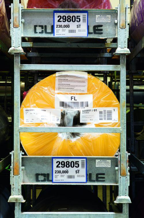 Durable Logistic Pocket Polypropylene with 2 Magnetic Strips A5 Landscape Blue Ref 174307 [Pack 50]
