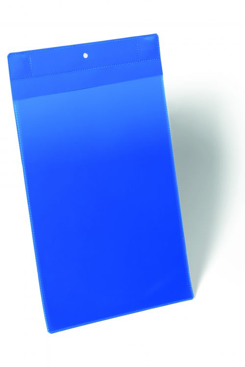Durable Logistic Pocket Polypropylene with Neodym Strong Magnets A4 Portrait Blue Ref 174707 [Pack 10]