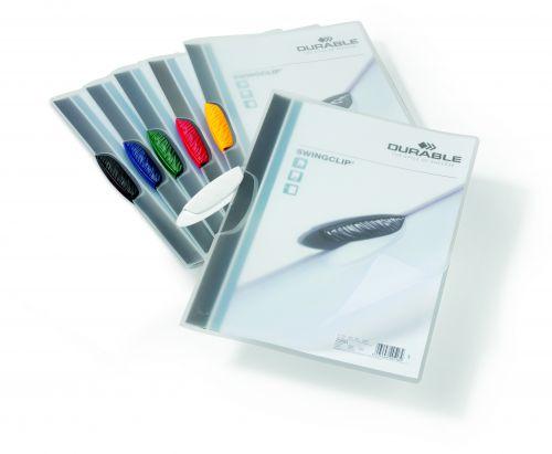 Durable 3mm Swingclip Folders Assorted (Pack of 25) 2260/00