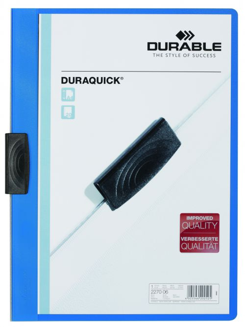 Durable Duraquick Folder A4 Blue (Pack of 20) 2270/06