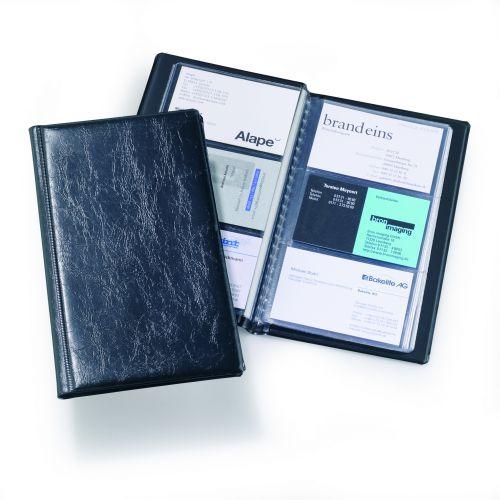 Durable Visifix 72 Business Card Album Capacity 72 Black Ref  2400/01