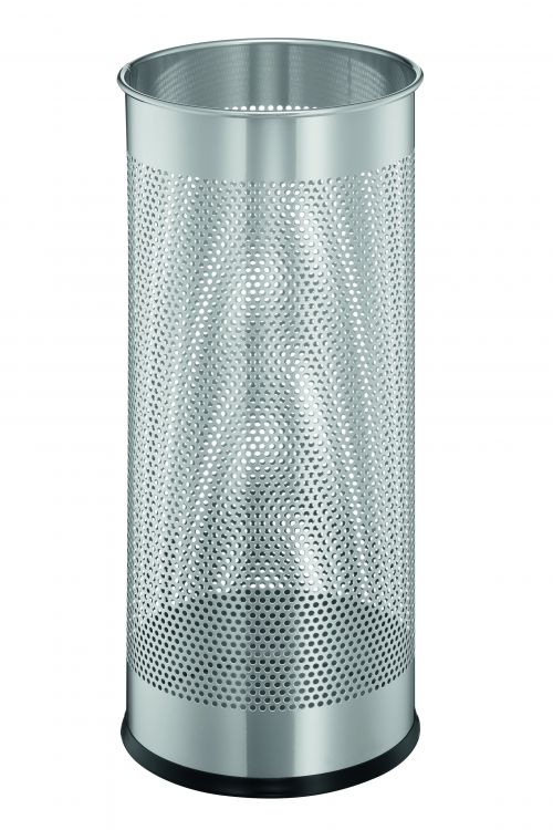 Durable Umbrella Stand Metal Perforated 285L Silver 335023