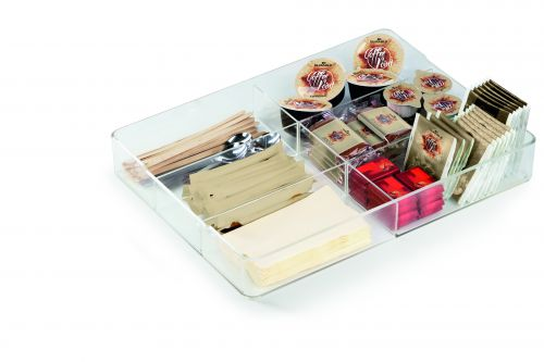 Durable Coffee Point Caddy Drawer Insert Transparent Ref 338419