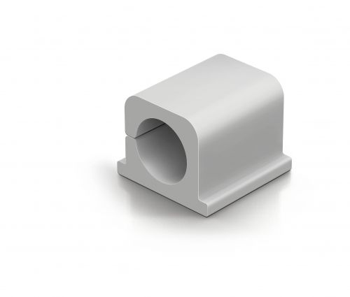 Image for Durable CAVOLINE CLIP PRO 2 Self Adhesive Cable Clips Grey Ref 504310 [Pack 4]