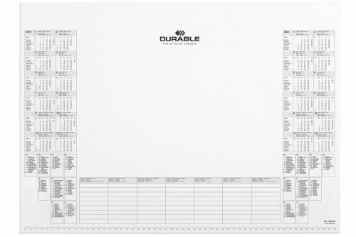 Durable Refill Calendar Pad, 59 x 42, White, Pack of 1