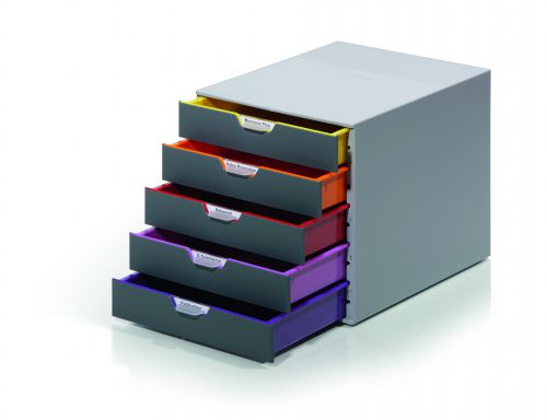 Durable Varicolor 5 Drawer Unit