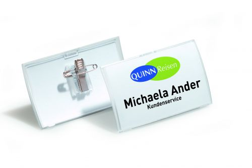 Durable Click Fold Name Badge 40x75mm (Pack of 25) 8211/19