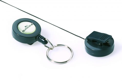 Durable Badge Reel Retractable and Keyring 822258 (PK10)