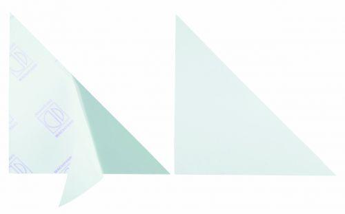 Durable Cornerfix Triangular Self Adhesive Corner Pockets 175x175 mm Pack of 100