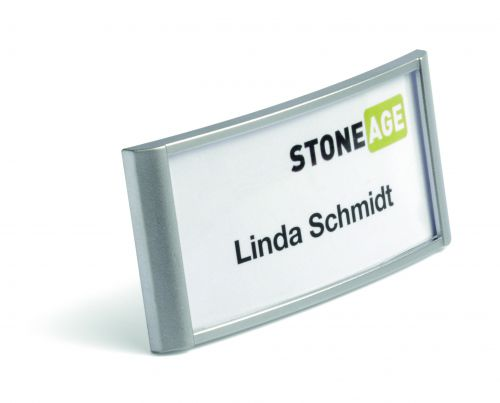 Durable Classic Name Badge with Combi Clip 34x74mm