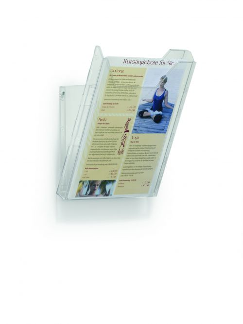 Durable Combiboxx Literature Holder Extendable A4 Clear Ref 8578/19