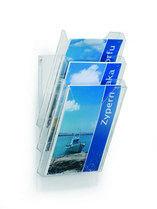 Durable Combiboxx Literature Holder Extendable A4 Clear Ref 8580/19 [Pack 3]
