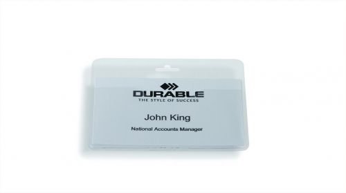 Durable Name Badge without Clip 60x90mm 999108008 (PK50)
