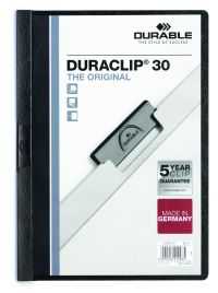 Durable 3mm Duraclip File A4 Black (Pack of 25) 2200/01