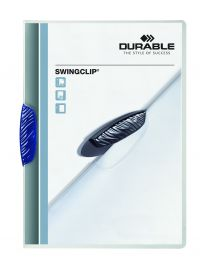 DURABLE SWINGCLIP FOLDER A4 DK BLU PK25