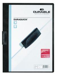 Durable Duraquick Clip Folder A4 Black (Pack of 20) 2270/01