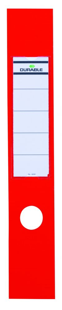 DURABLE ORDOFIX RED SPINE LABEL 8090/03