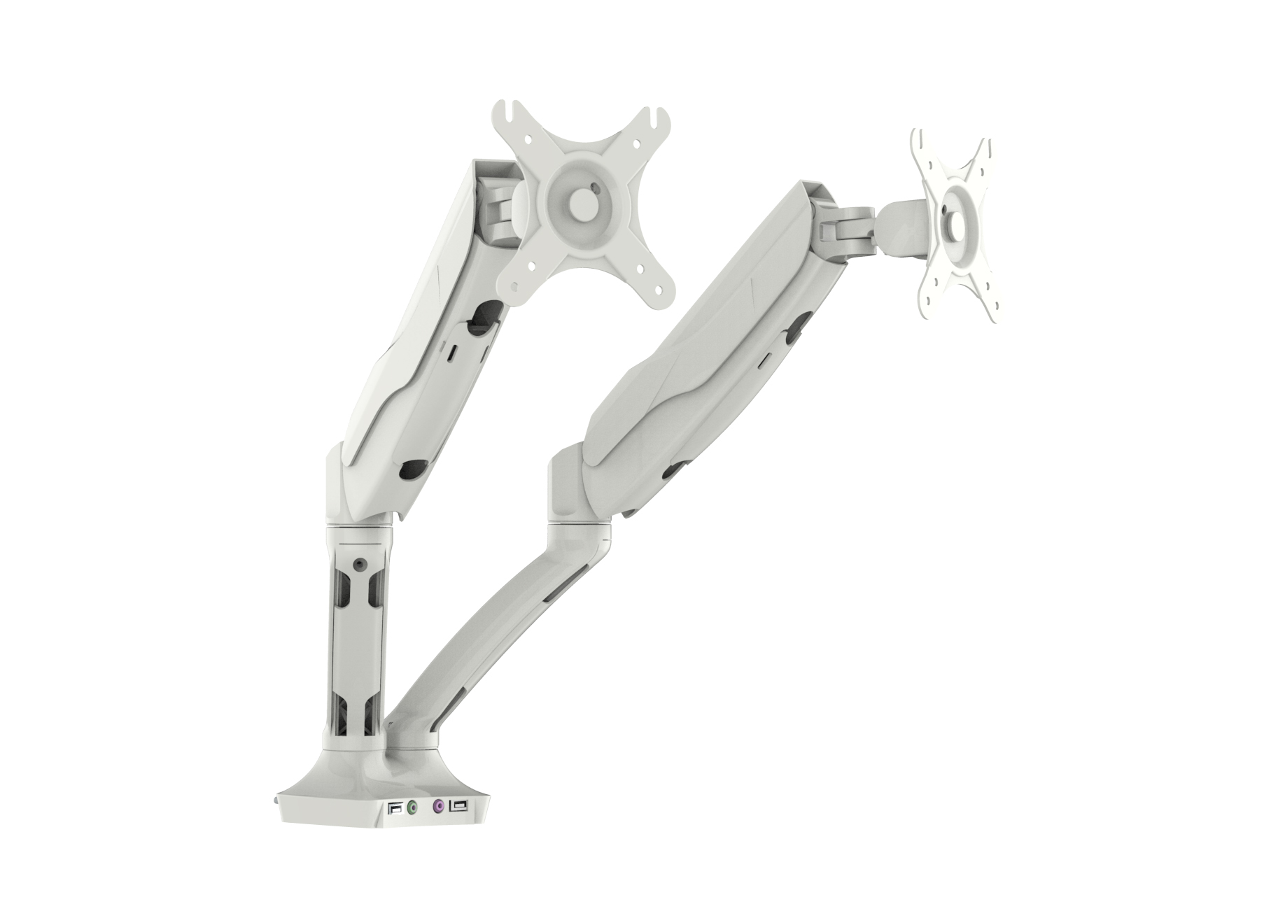 Easy Adjust Dual Monitor Arm in White