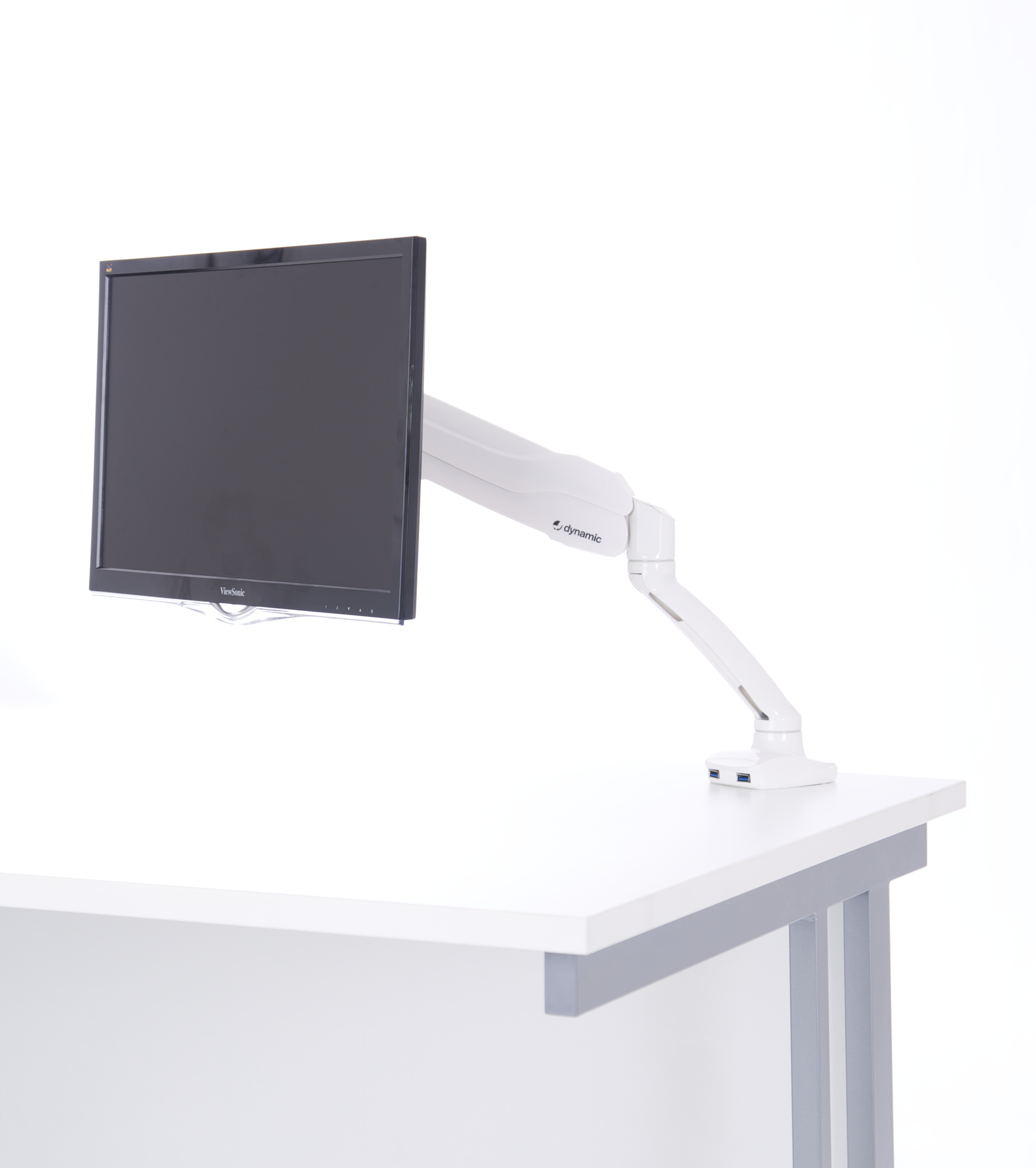 Easy Adjust Single Monitor Arm in White