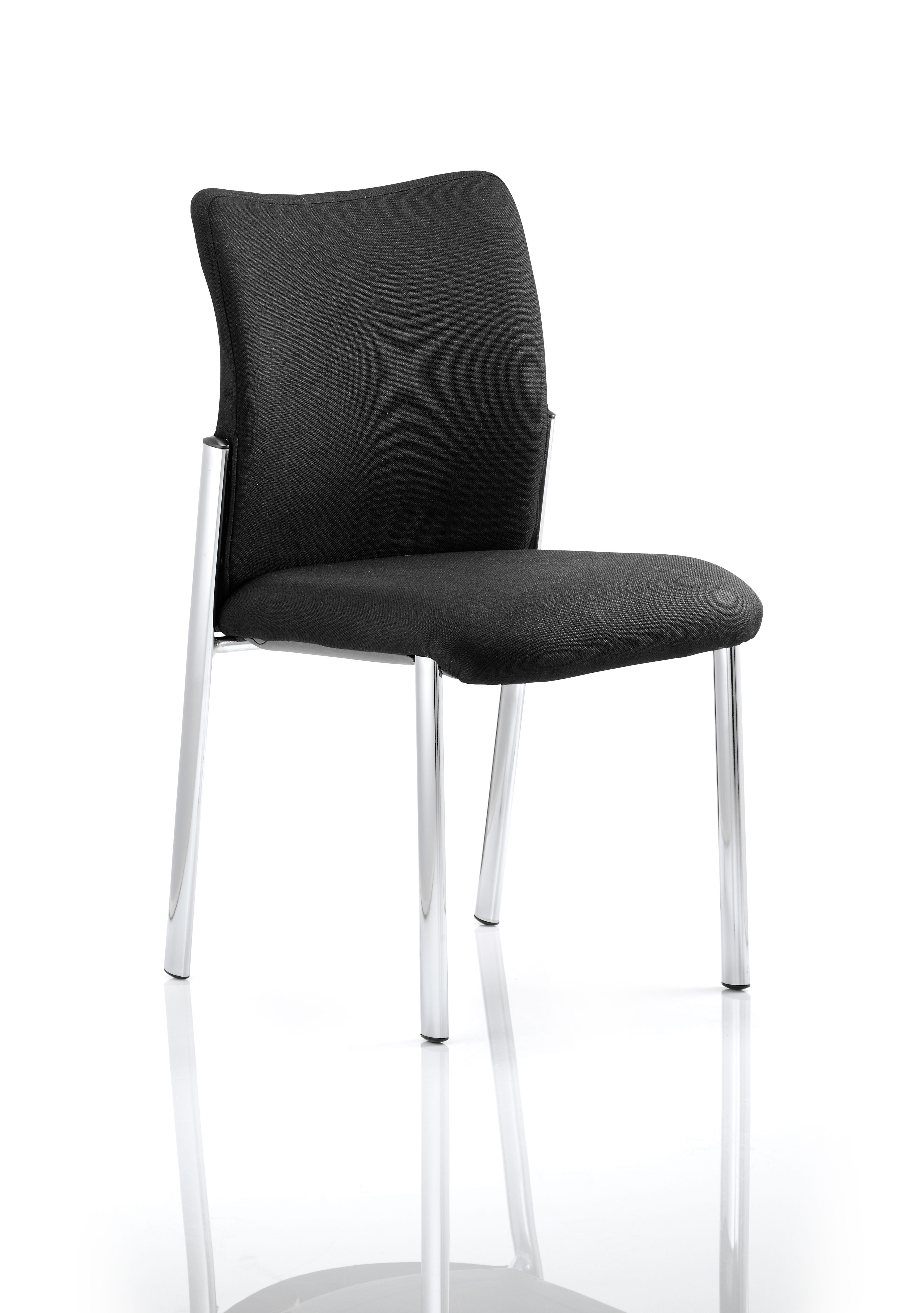 Reception Chairs Academy Visitor Chair Black Fabric Back Without Arms BR000004