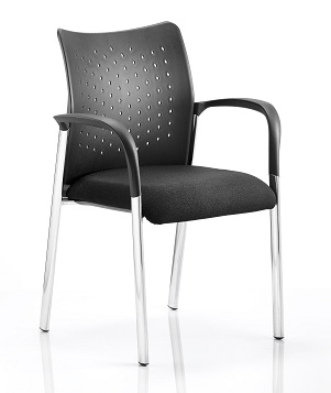 Reception Chairs Academy Visitor Chair Black With Arms BR000010