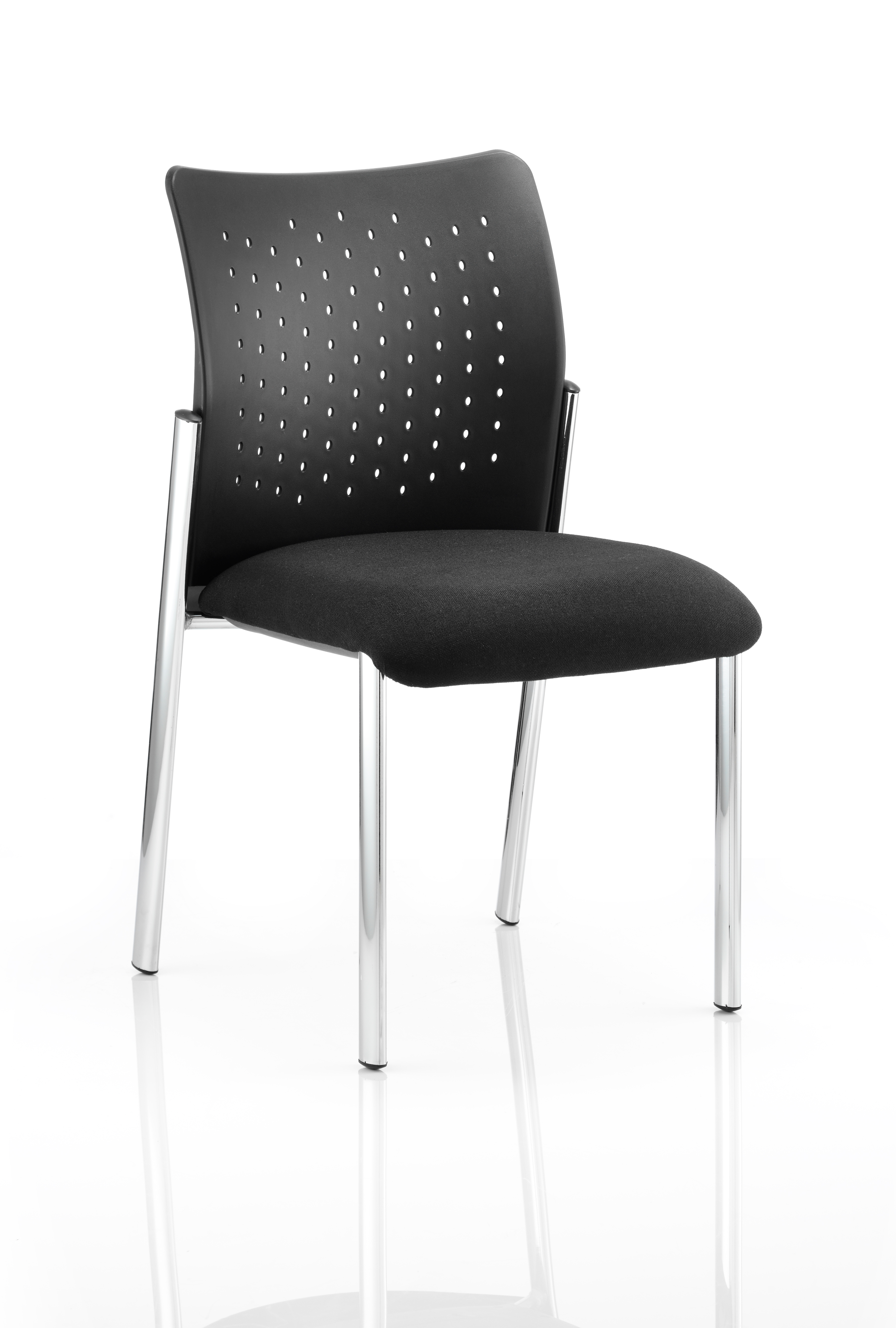 Reception Chairs Academy Visitor Chair Black Without Arms BR000011