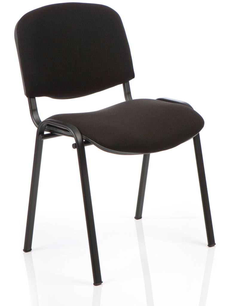 Stacking Chairs ISO Stacking Chair Black Fabric Black Frame BR000055