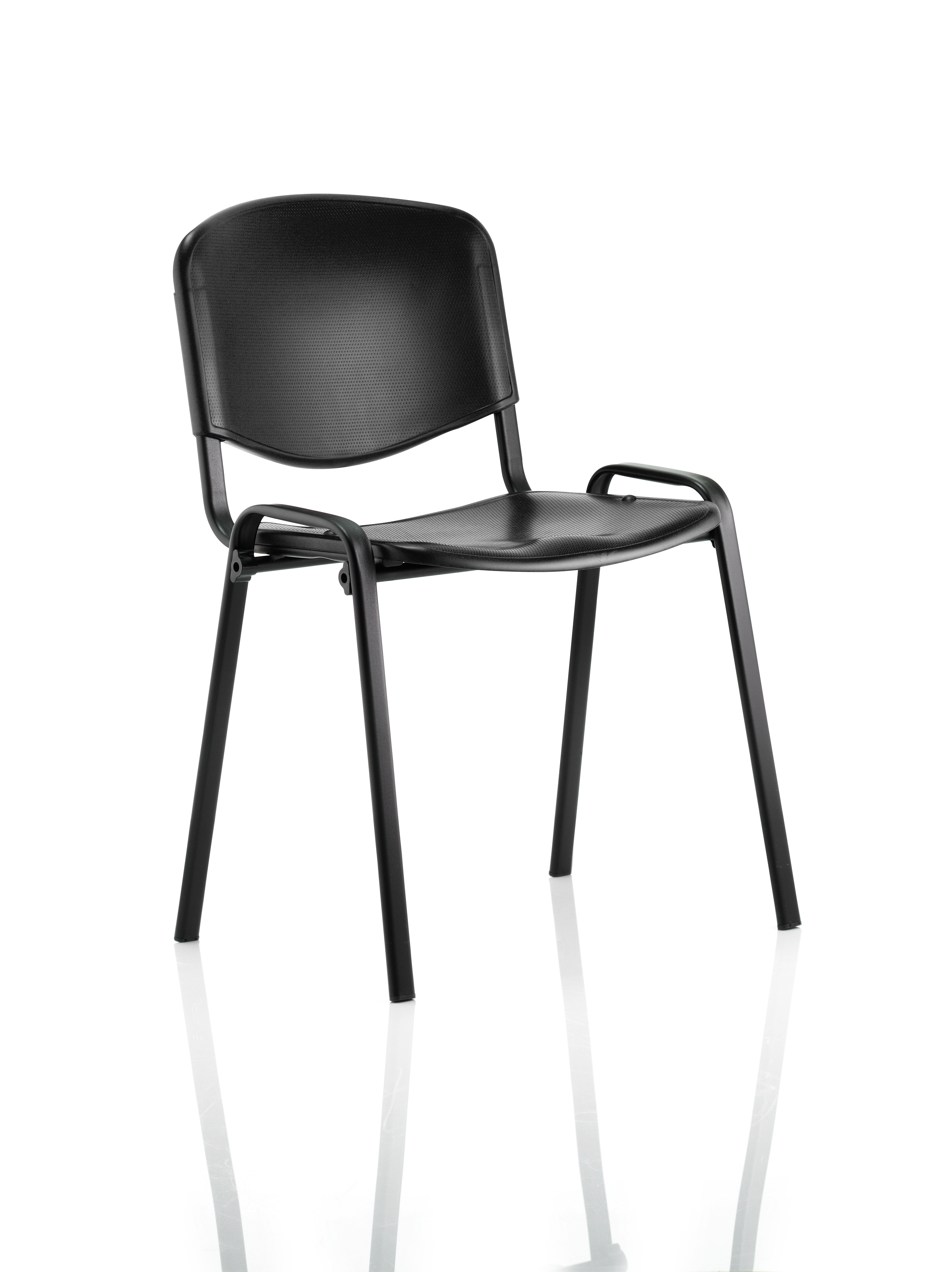 Stacking Chairs ISO Stacking Chair Black Poly Black Frame BR000056