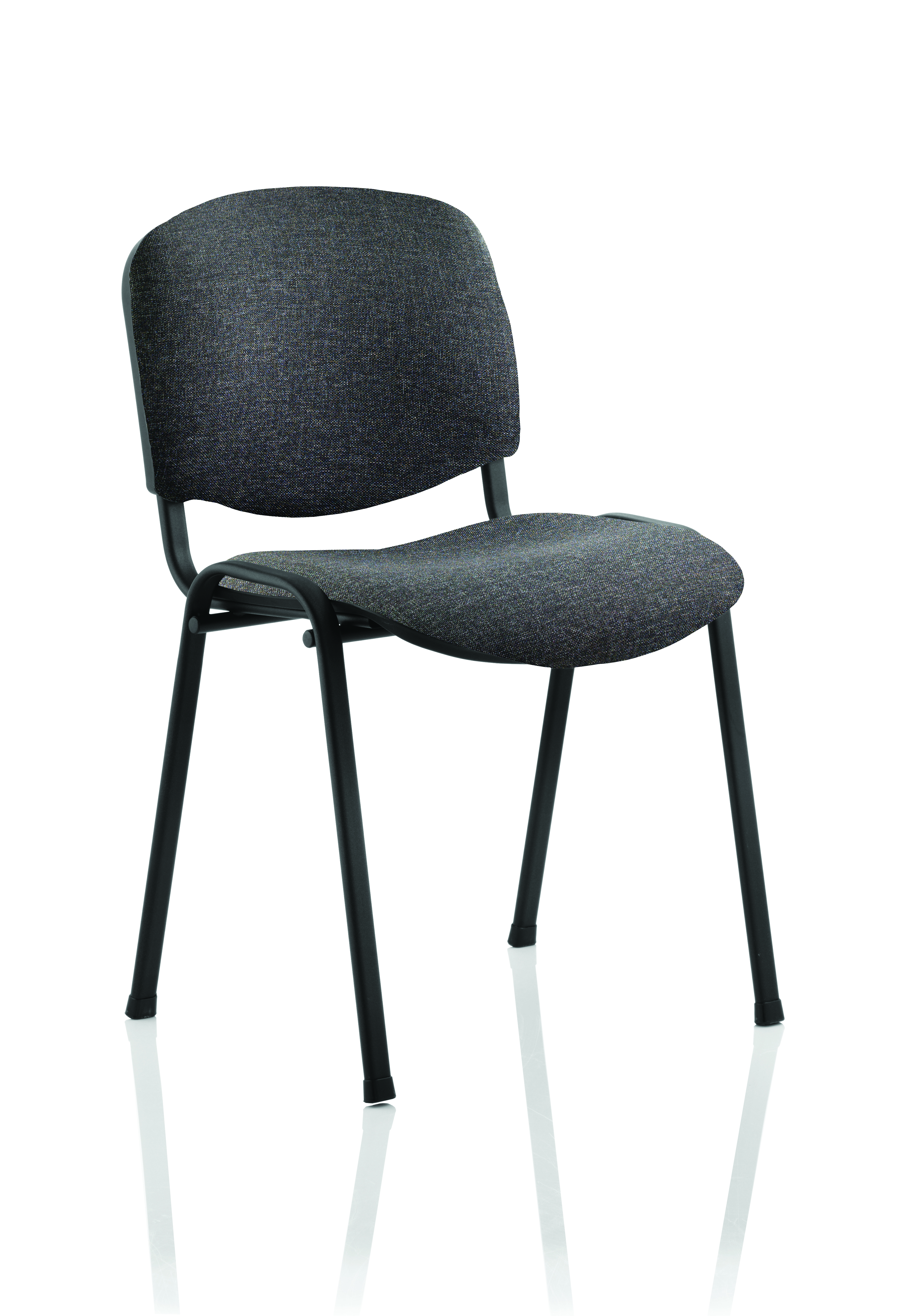 Stacking Chairs ISO Stacking Chair Charcoal Fabric Black Frame BR000059