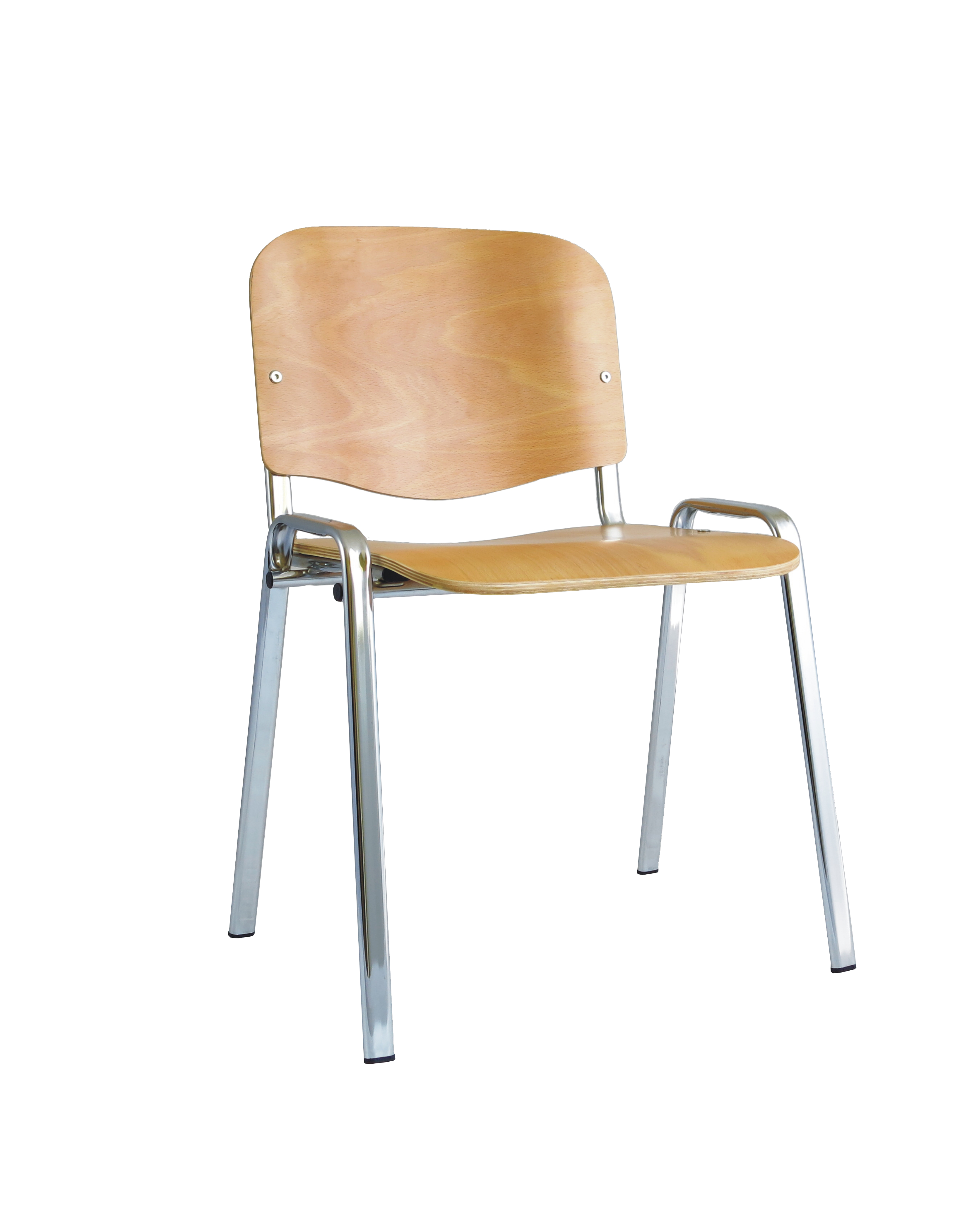 Stacking Chairs ISO Stacking Chair Beech Chrome Frame BR000066