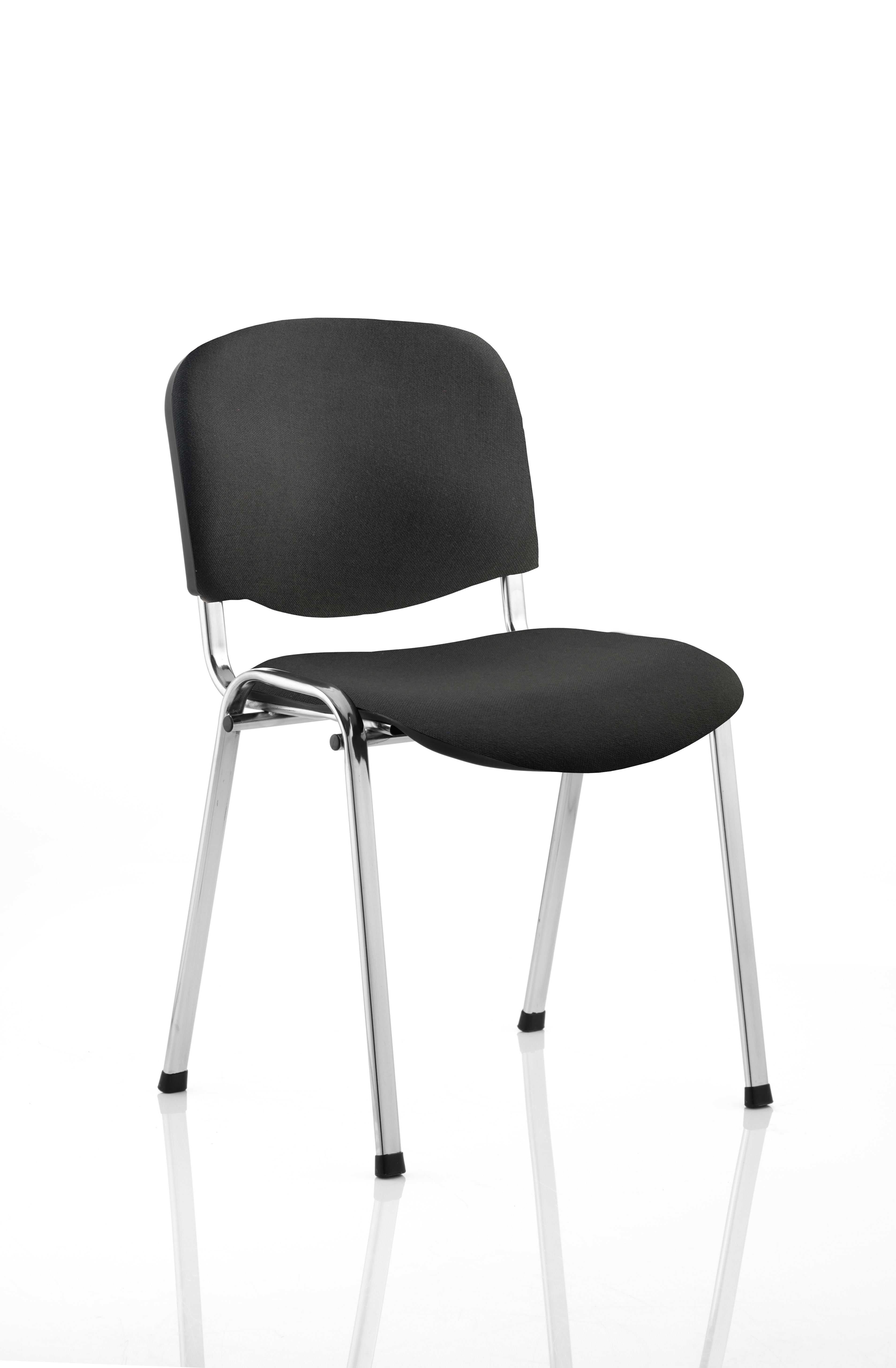Stacking Chairs ISO Stacking Chair Black Fabric Chrome Frame BR000067