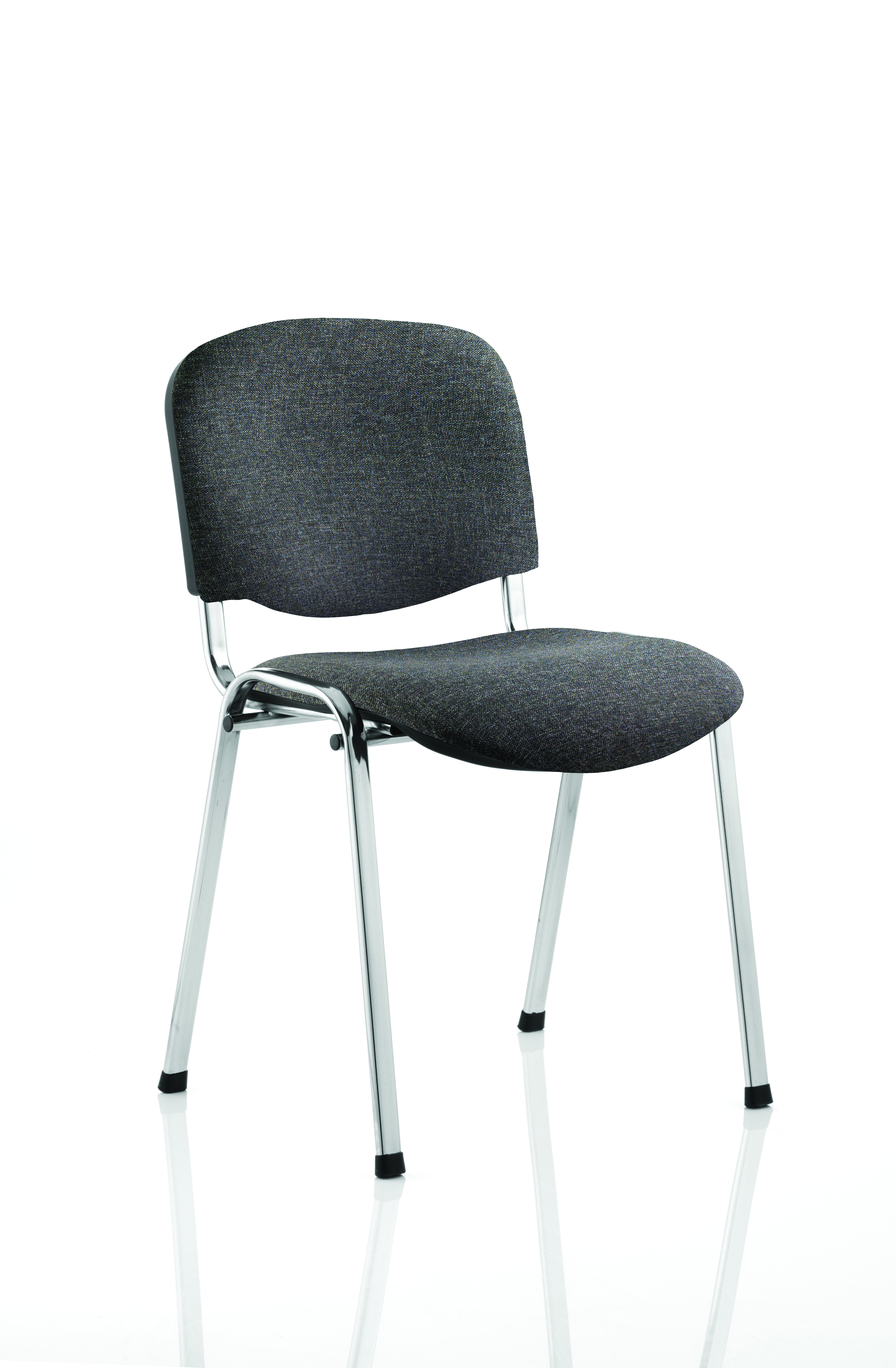 Stacking Chairs ISO Stacking Chair Charcoal Fabric Chrome Frame BR000069