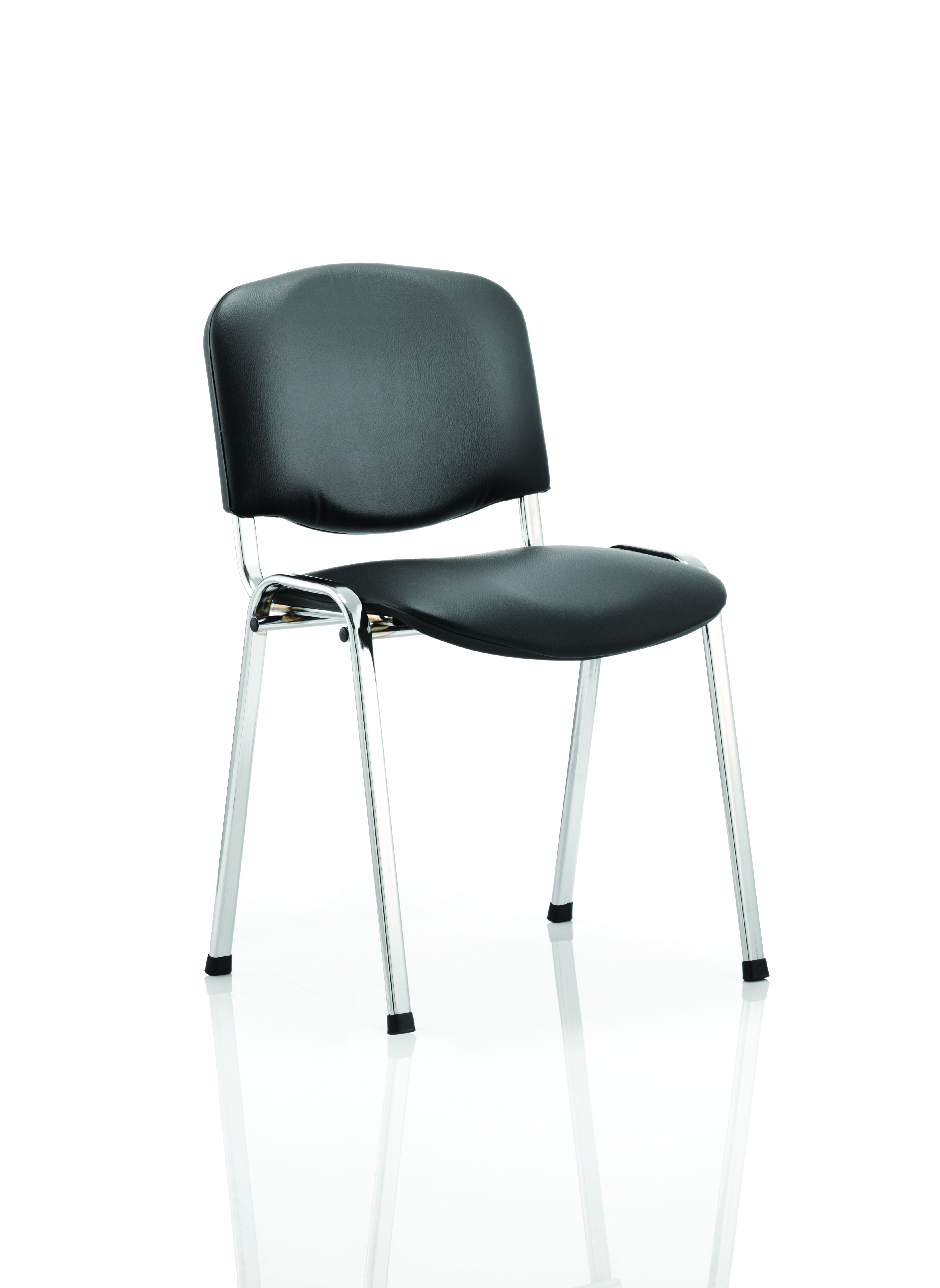 Stacking Chairs ISO Stacking Chair Black Vinyl Chrome Frame BR000071