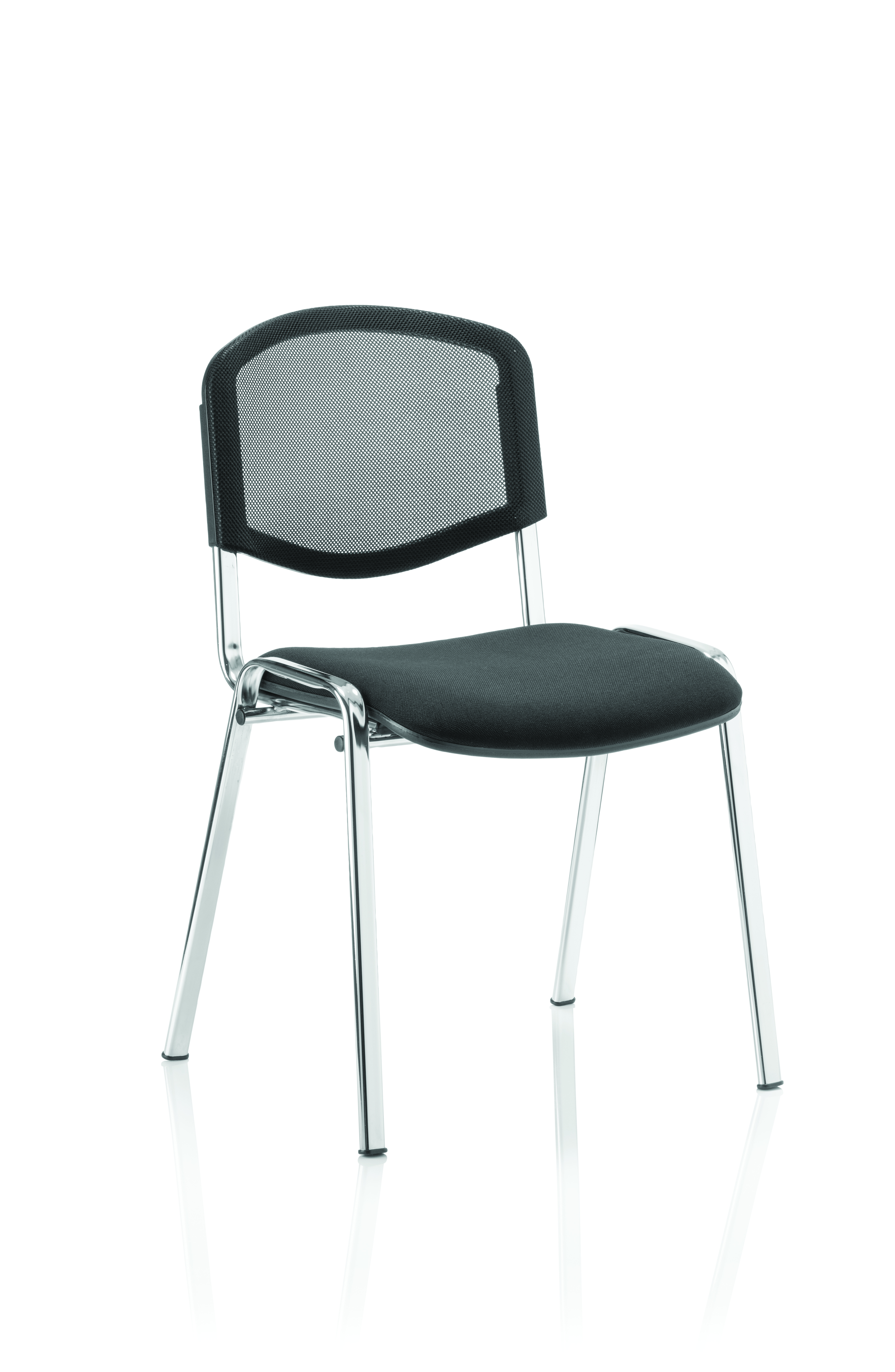 Stacking Chairs ISO Stacking Chair Black Mesh Chrome Frame BR000073