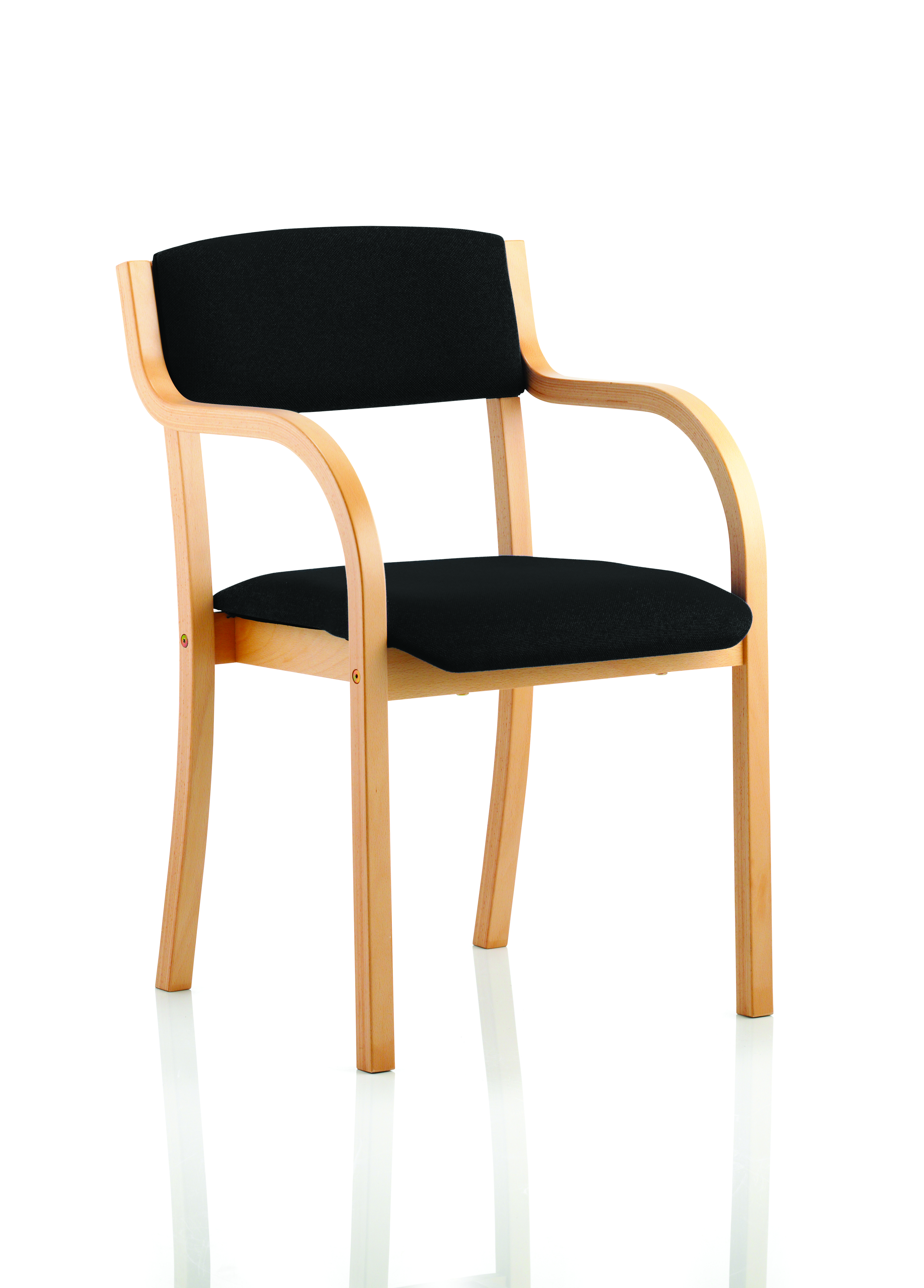 Stacking Chairs Madrid Visitor Chair Black With Arms BR000084